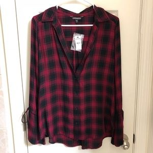 Express red plaid shirt, Brand new!